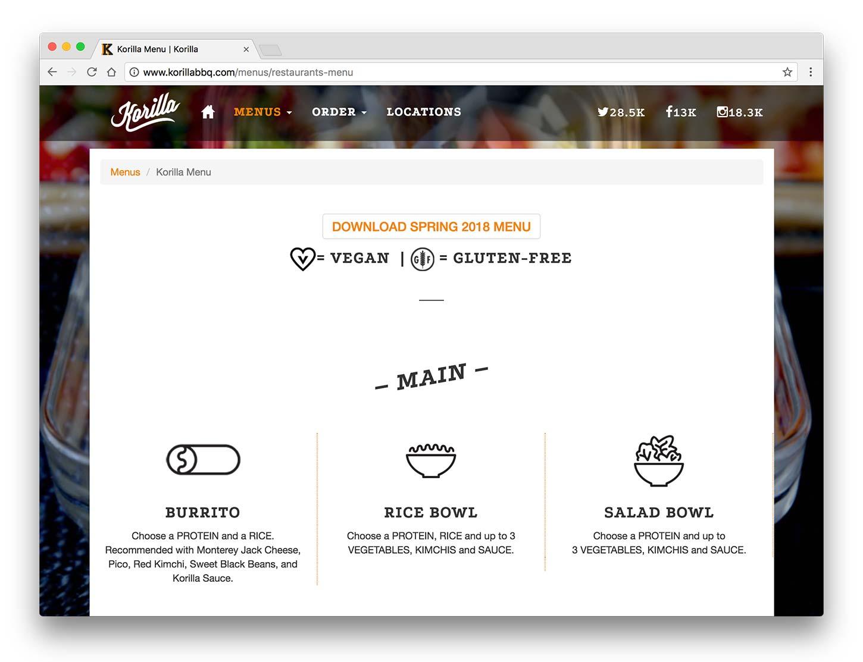 Exemple d'una web d'un restaurant