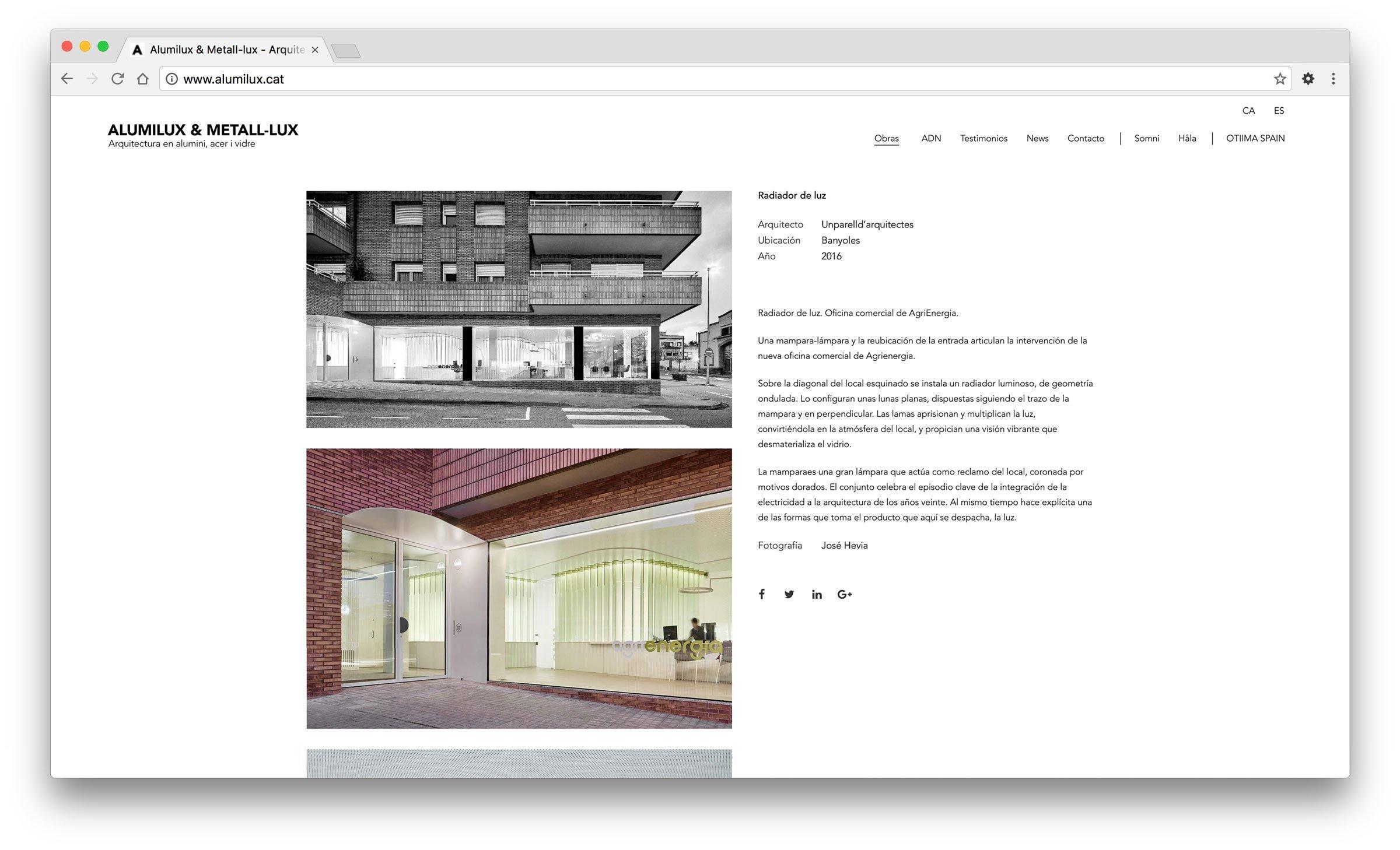 Disseny d'una web multiidioma amb Wordpress per Alumilux