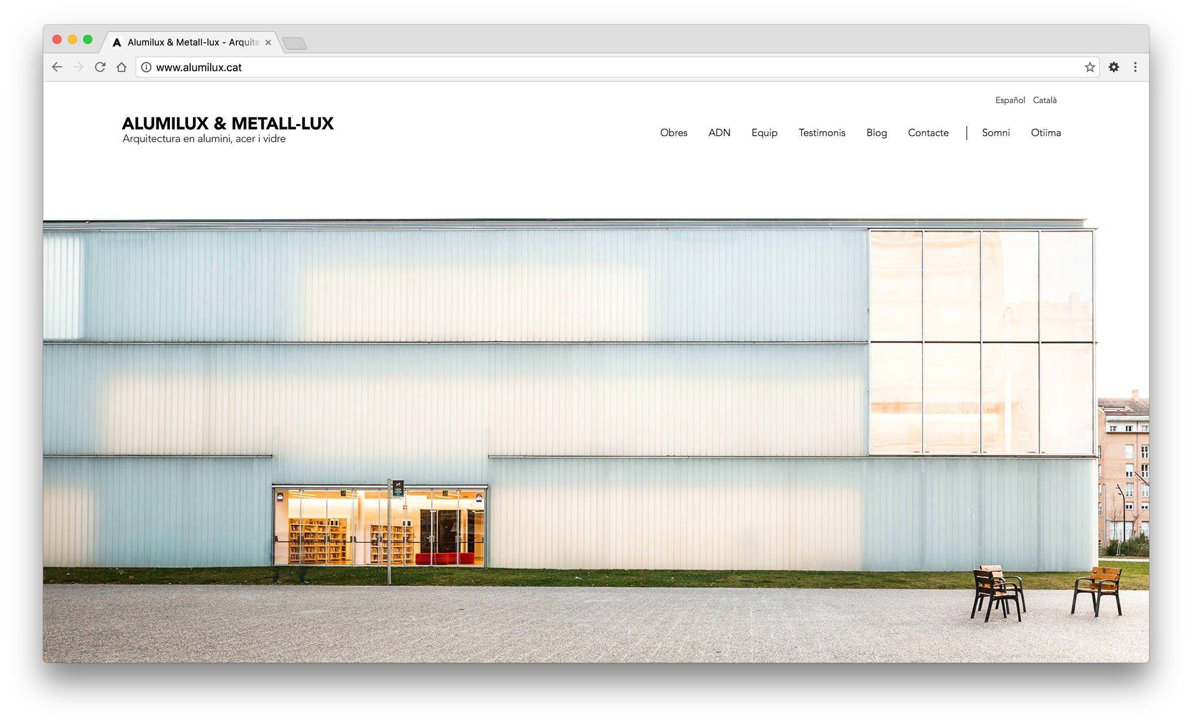 Disseny web per Alumilux & Metall-lux