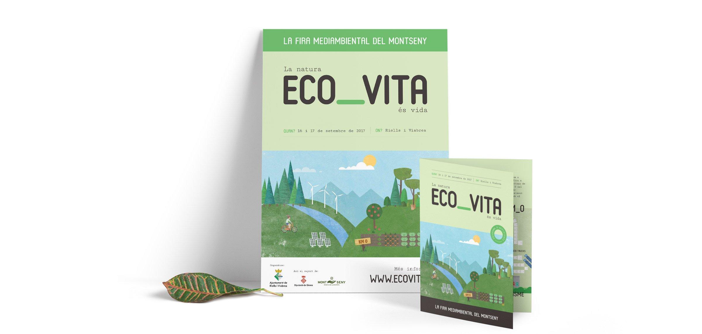 Material gràfic per la fira ECO_VITA