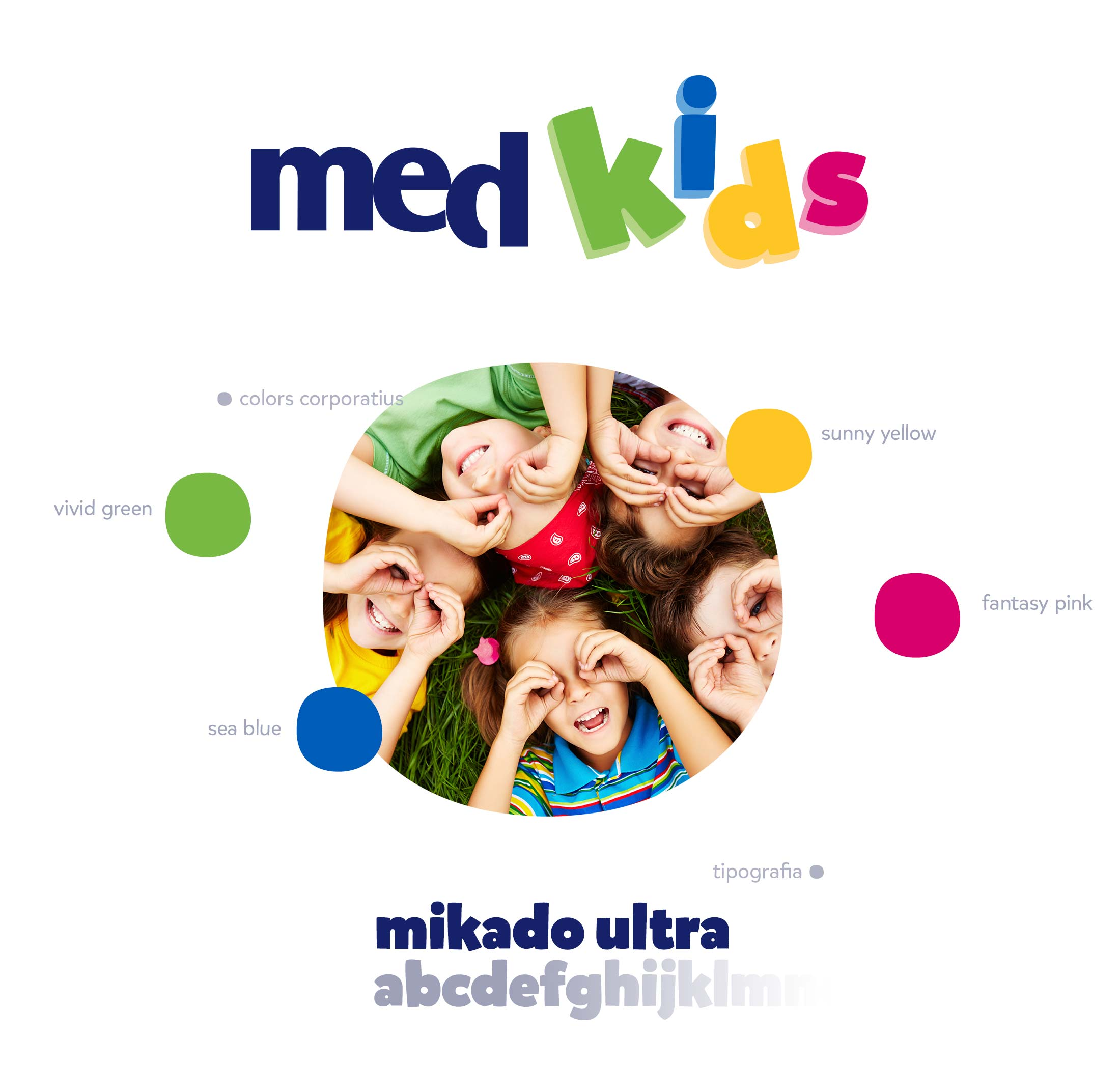 Logotip, marca i colors corporatius per medkids