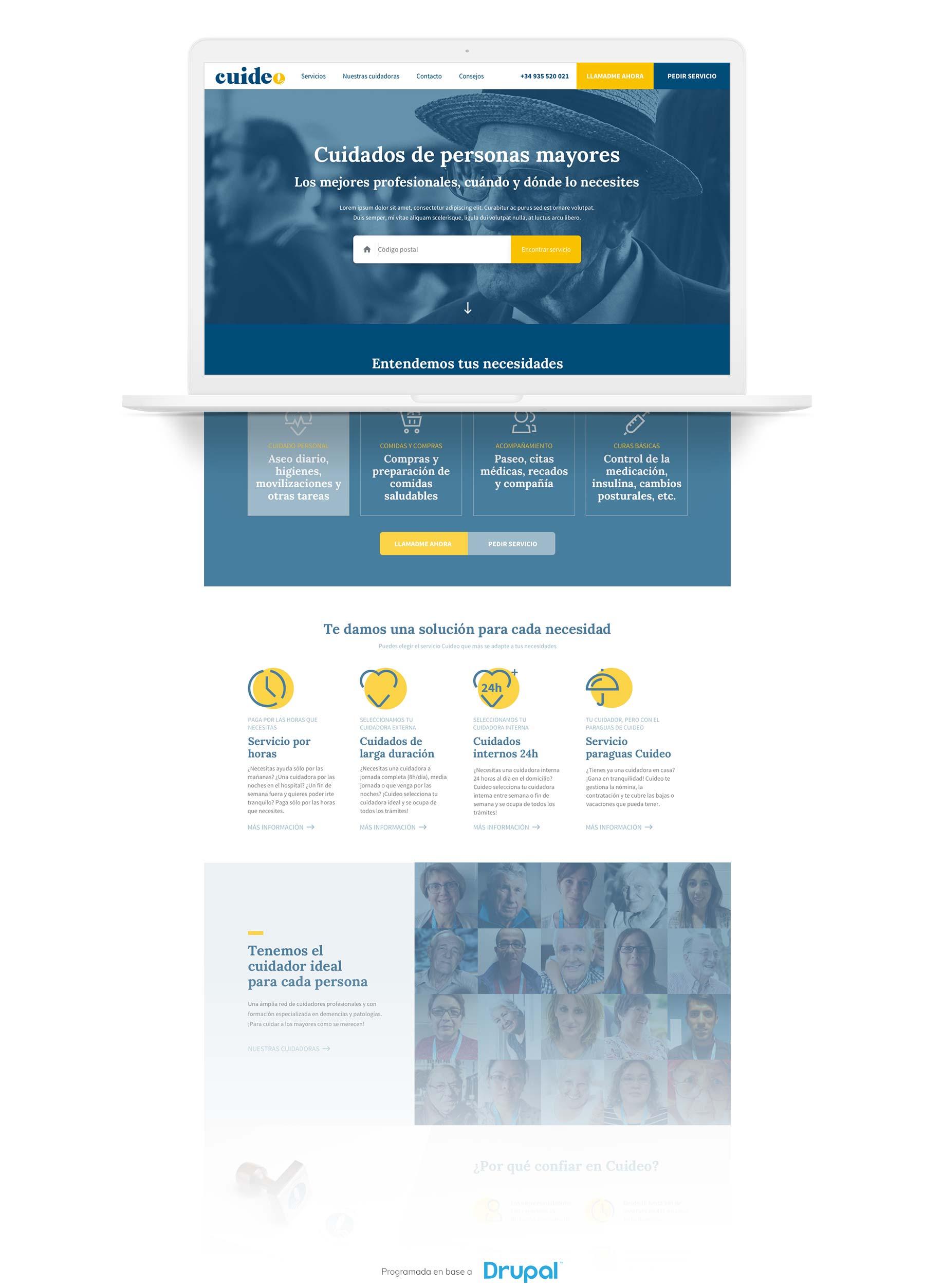 Projecte web per Cuideo