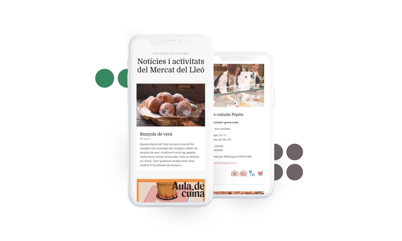 Web responsive mercat municipal de Girona